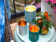 Easy Summer DIY: Upcycled Tin Can Lanterns