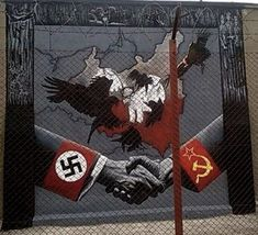 Mural,który powstał w Ostrołęce w Muzeum Żołnierzy Wyklętych...
