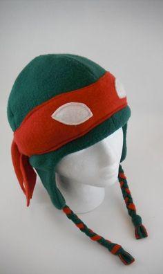 Teenage Mutant Ninja Turtles (TMNT) hat! geeky sewing pattern and tutorial