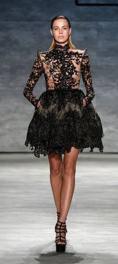 NY: Michael Costello - Runway - Mercedes-Benz Fashion Week Spring 2015