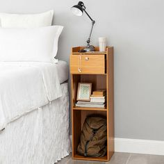 Latitude Run Remillard About It Extra Tall 1 Drawer Nightstand Colour: Beech Shabby Chic Furniture, Living Room Furniture, College Furniture, Bed Furniture, Custom Furniture, Furniture Design, Tall Nightstands, Small Space Bedroom, Boho Chic
