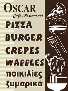 Crepes And Waffles, Pizza Burgers, Cafe Restaurant, Graphic Design, Artwork, Work Of Art, Auguste Rodin Artwork, Artworks