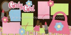 Girly Girl Scrapbook Page Kit