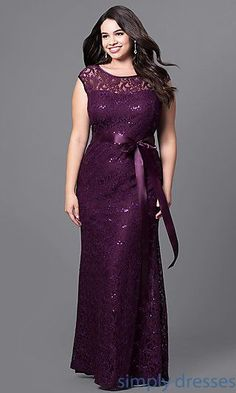 14868683bca Cool Casual Bridesmaid Dresses Shop sequined-lace long formal dresses at Simply  Dresses. Floor-length plus-size.