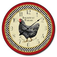 Little Black Hen Wall Clock, Available in 8 sizes, Most S... https://www.amazon.com/dp/B01C0WX4TO/ref=cm_sw_r_pi_dp_x_7J3Fzb60QCYY5