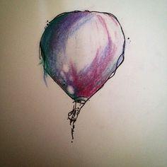 Hot air balloon design #tattoodesign #hotairballoon #watercolour #manchester…