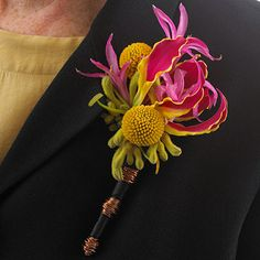 Glorious Lilies corsage. Fun idea to take the flower apart to reconstruct it in the design.