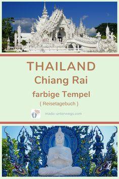 Tempel-Tour in #chiangrai: Der weiße Tempel 🛕 ist ein Publikumsmagnet. Und hat sicher die schönste Toilettenanlage in Thailand 😊. Der blaue Tempel ist aber nicht weniger spektakulär!  // #madoreisen #madounterwegs👣 #reisetagebuch #asien #thailand #reisetipp #travel #tourismthailand // Werbung, da Firmen-/Marken-/Ort-/Personen-Nennung oder -Verlinkung ohne Auftrag, aber als persönliche Empfehlung // Dienstleistungen/Produkte/Unterkünfte selbst bezahlt // Chiang Rai, Thailand, Movies, Movie Posters, Travel Scrapbook, Temples, Travel Advice, Advertising, Places