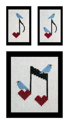 Happy Little Bluebirds Sing Cross Stitch by BlueTopazStitchery, $4.00