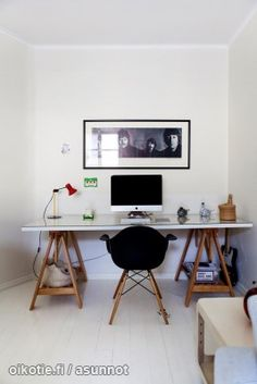 Työpöytä // Work space. Nordic Living, Office Desk, Wall Decor, Space, Furniture, Home Decor, Wall Hanging Decor, Floor Space, Desk Office