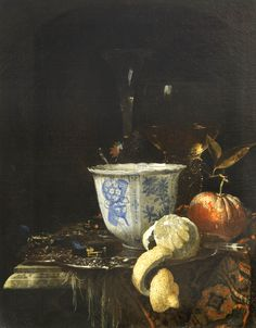 Willem Kalf (Rotterdam 1619 – 1693 Amsterdam) Still life with a Chinese porcelain bowl Canvas, 52.5 x 41.8 cm; signed