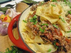 """Taste user Dusty Worley Lasker's peking duck ragu: """"Peking Duck Ragu...just a shameless attempt at garnering votes for my recipes in the Homecook Competition. I soooooo need a new kitchen people!"""""""