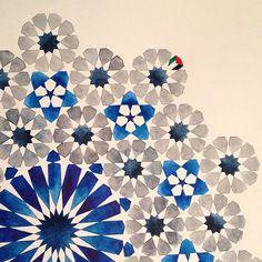 . Motifs Islamiques, Islamic Motifs, Islamic Art Pattern, Arabic Pattern, Pattern Art, Geometric Patterns, Geometric Designs, Geometric Art, Textures Patterns