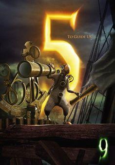 9 Movie Poster - Character 5 - To Guide Us… — Ben Gillbanks 9 Tim Burton, Tim Burton Style, Tim Burton Films, Tim Burton Characters, Movie Characters, Wall E, Tim Burton Personajes, Nine Movie, Steampunk Movies
