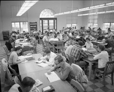 """Aggies """"Hit the Books,"""" 1958  Photo courtesy of Cushing Memorial Library and Archives, Texas A&M University."""