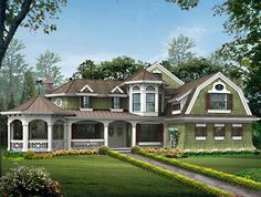 Craftsman+House+Plan+with+3592+Square+Feet+and+4+Bedrooms+from+Dream+Home+Source+|+House+Plan+Code+DHSW55833