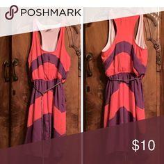 🍁Sale 🍁 Charming Charlie's Dress Coral/Purple racer back dress, no tags, never worn Charming Charlie Dresses