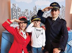 Vintage Blue & Red Airplane Birthday Party