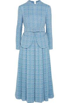 Shop Emilia Wickstead Juliana Belted Wool-bouclÉ Midi Dress from stores. Slim Fit Dresses, Modest Dresses, Nice Dresses, Tweed, Daytime Dresses, Elegant Outfit, Pattern Fashion, Beautiful Dresses, Dress Up