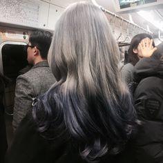 가응(lovely99)'s style   옴브레로 애쉬그레이+바이올렛 염색 ! 색 빠질수록 더 예뻐져서 맘에든다 ❌무단콜렉 싫어요❌ ----