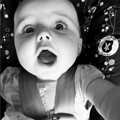 "This baby who's discovered the ""hipster-above-the-head-shot"" selfie. 