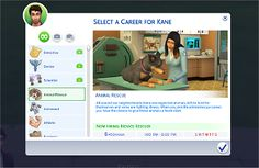 Mod The Sims - Animal Rescue Mod and Career **Updated MyFirst Pet***