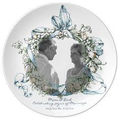 30th Wedding Anniversary PHOTO Commemorative Named Plate - anniversary gifts ideas diy celebration cyo unique