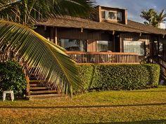 Hawaiian Style Beachfront Family Home on Secluded North Shore Beach waialua