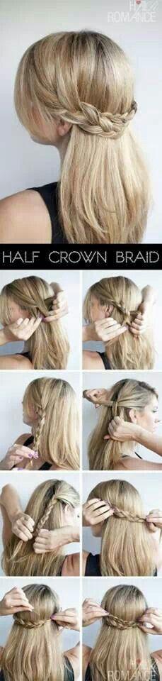 .Half crown braid