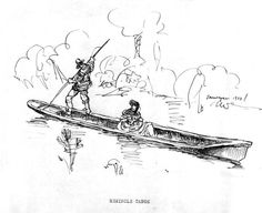 Seminole Indian Dugout Drawn By Philip Ayers Sawyer