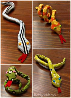 Sewing Stuffed Animals A simple sewing tutorial for a bendable snake toy. - A simple sewing tutorial for a bendable snake toy. Sewing Lessons, Sewing Hacks, Sewing Tutorials, Sewing Patterns, Sewing Ideas, Tutorial Sewing, Sewing Machine Projects, Sewing Projects For Beginners, Sewing Machines