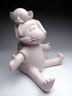 Sculpture de Bethany Krull.  (Porcelaine).  Site de l'artiste : bethanykrull.com