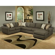Keaton Chenille Eco-Friendly Sectional Sofa | Overstock.com
