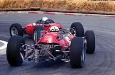 1965 Monaco G.P. 1.5 liter Ferrari's  V8 of Lorenzo Bandini and V12 of John Surtees.