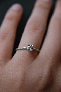 The Traditional Moissanite Ring | Old Hollywood