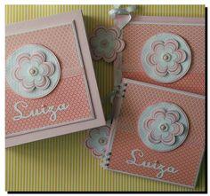 KIT livro do bebe completo com caderno e caixa maior Flor