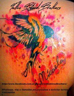 pájaro en watercolor