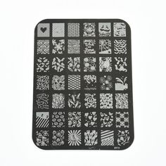1-Set Dazzling Popular Hot Nail Art Stamping Image Tools Scraper Stamp Stencil DIY Model Style XY-01 -- You can find more details by visiting the image link.