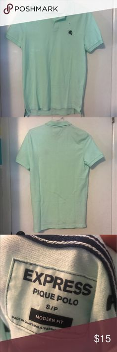 Polo T-shirt Turquoise Polo T- Shirt from Express Express Shirts Polos