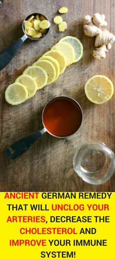 Here, we're going to present you an original German recipe which has been used for many centuries to treat illnesses like atherosclerosis, high cholesterol levels, cold, fatigue and numerous other infections. Natural remedies   Immune System   High Cholesterol #naturalremedies #highcholesterol #cold #immunesystem