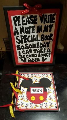 Mickey mouse guest book