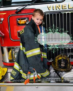Fire fighter child photo
