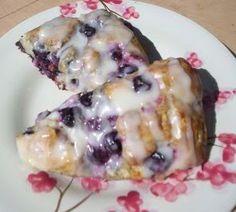 Blueberry Scones with Lemon Glaze!