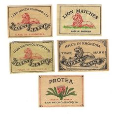 matchbox covers Zimbabwe History, Ol Days, Good Ol, Vintage Cards, Cape Town, Ancestry, Family History, Childhood Memories, South Africa