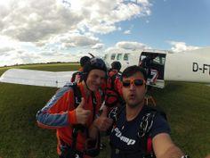 Thumbs up before getting on board! #skydiving  http://www.gojump.de/en.html