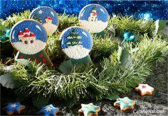 Caramelisas: Bolas de nieve, snowball Christmas cookies, galletas decoradas.