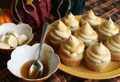 Banana Cupcakes with Honey Peanut Butter-Cream Frosting