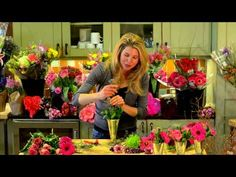 Flowers for a Friend // sarah von pollaro tutorial... how to get the most bang for your buck from a single grocery store bouquet.