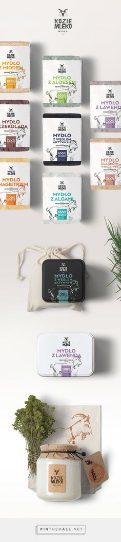 Kozie Mydła / Goat Milk (Concept) on Packaging of the World - Creative Package Design Galler Dairy Packaging, Cheese Packaging, Organic Packaging, Milk Packaging, Brand Packaging, Yogurt Packaging, Product Packaging, Product Label, Graphisches Design