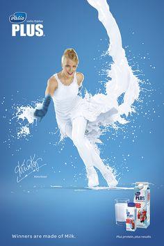Valio Plus Milk Advertising Campaign PD Milk Advertising, Clever Advertising, Advertising Poster, Advertising Campaign, Advertising Design, Ads Creative, Creative Posters, Brand Campaign, Poster Ads